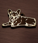 token for dogs of breed the French bulldog