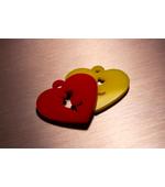 Цветная подвеска в виде сердца