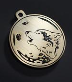 """Адресник для собак """"Волк и луна"""""""