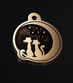 Медальон для кошки с гравировкой