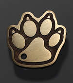 """Tag for dog """"Paw white large"""""""