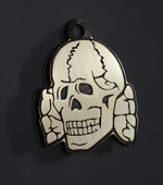 "Tag for dog ""Skull white"""