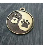 """Tag for dog """"Yin-and-yang"""""""