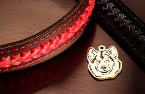 Dog tag for dog breeds Alaskan Malamute