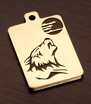 "Tag for dog ""Wolf and moon"" var.5"
