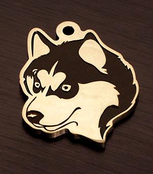 Медальон для собаки породы Сибирский хаски