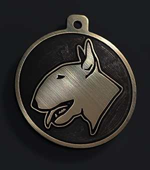 Жетон для собаки породы Бультерьер