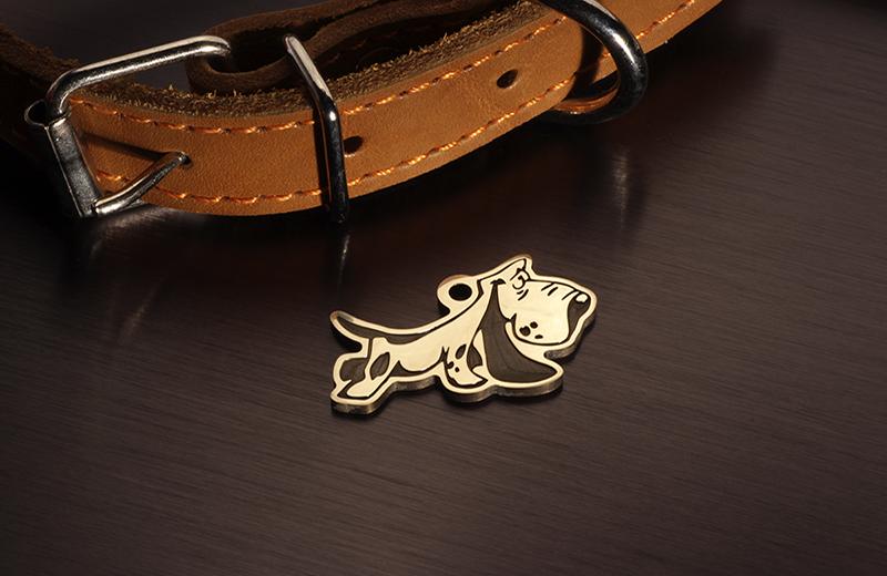 Адресник для собаки Бассет хаунд