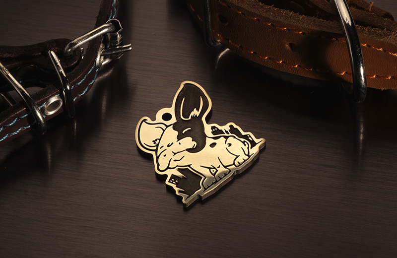 Token for dogs breed French bulldog