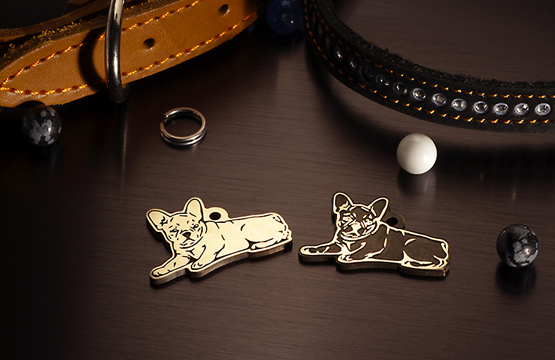Tag for dogs breed French bulldog