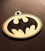 "Tag for dog ""Batman white"""