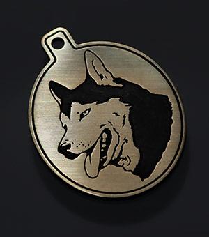 Dog tag for dog breeds Alaskan Malamute