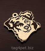 Dog tag with Australian shepherd