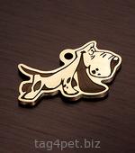 Адресник для собаки породы Бассет хаунд