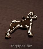 Жетон с гравировкой для собак породы Басенджи