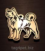 Медальон для собаки Американская акита