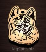 Адресник для собаки Американская акита