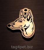 Адресник для собак породы Басенджи