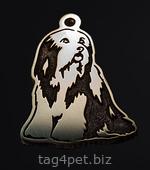 Адресник для собаки породы Бородатый колли