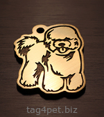 Адресник для собаки породы Бишон фризе