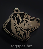 Token for dogs breed Central Asian shepherd
