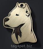 Адресник для собаки Аргентинский дог
