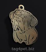 Адресник для собаки Бордоский дог