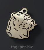 Медальон для котов и кошек Американский кёрл