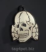 """Tag for dog """"Skull white"""""""