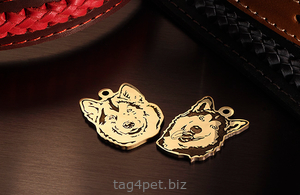 Dog tag for breeds Alaskan Malamute