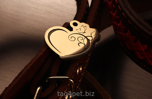 """Tag for dog """"Heart and butterfly"""""""