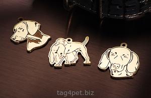 Жетоны для собак породы Веймаранер