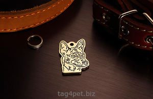 Dog tag for dog breeds Basendji