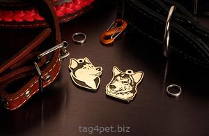 жетон для собаки сибирская хаски