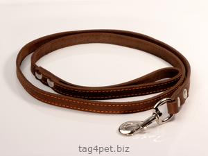 Поводок для собак, 14 мм, коричневый