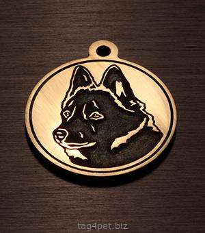 Адресник для собак породы Шипперке