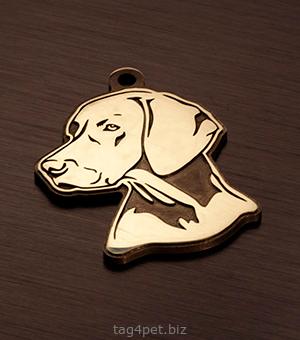 Медальон для собак породы Веймаранер