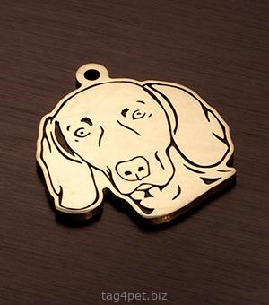Адресник для собаки породы Веймаранер