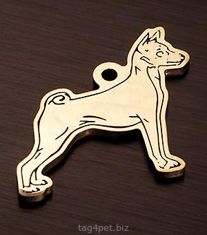 Адресник для собаки породы Басенджи