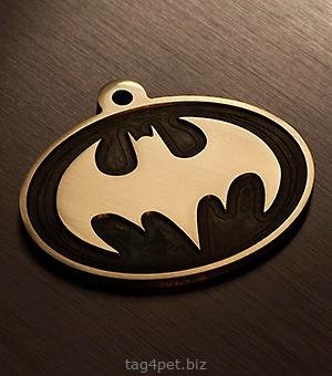 """Адресник для собак """"Бетмен"""""""