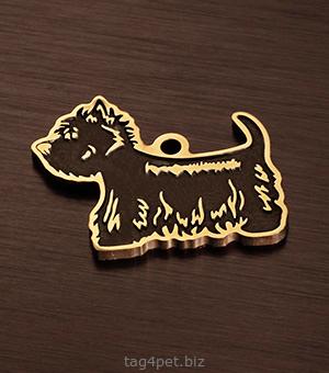 Адресник для собаки породы Вест вайт терьер