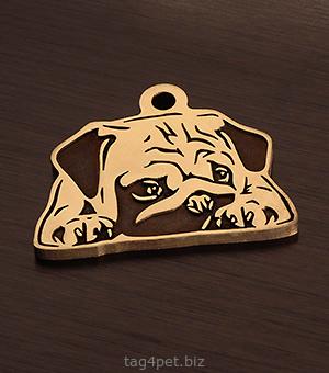 Адресник для собаки породы Мопс