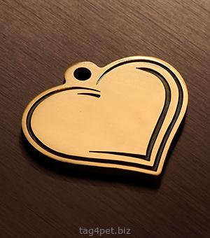Адресник для собаки в форме сердца