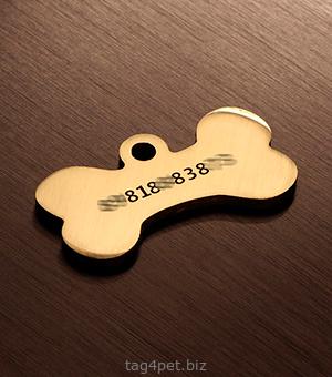 Адресник для собаки, пример гравировки