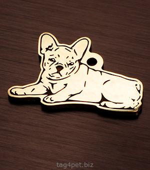 Адресник для собаки Французский бульдог
