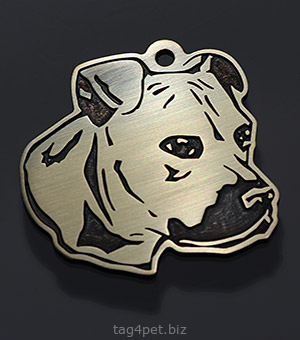 Tag for dog breeds American pit bull terrier