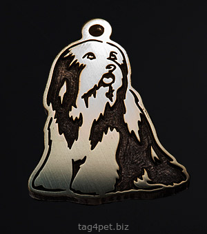 Tag for dog breeds Bearded collie