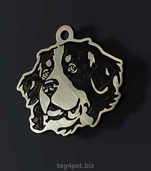 Dog tag for dog breeds Bernese mountain dog