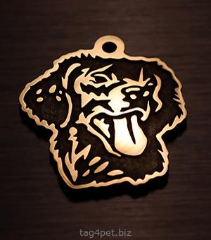 Медальон для собаки породы Прямошерстный ретривер