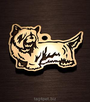 Адресник для собаки породы Скай терьер